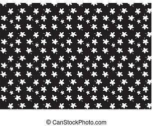 BLACK AND WHITE LEAF DESIGN