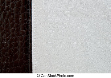 Black and white leather texture background