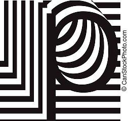 letter p design template