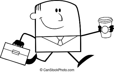 Black And White Lucky Businessman