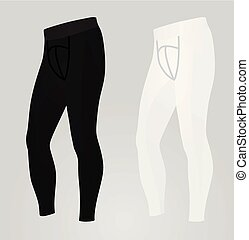 Black and white male leggings