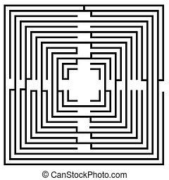 Black and white maze