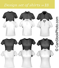 Black and white men polo shirts