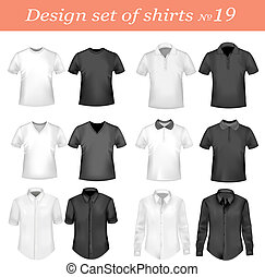 Black, and white men polo shirts - Black, and white men polo...
