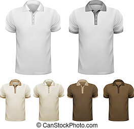 Black and white men t-shirts. Design template. Vector illustration