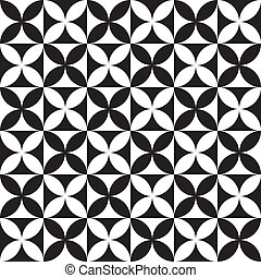black and white modern geometrical abstract - black and...