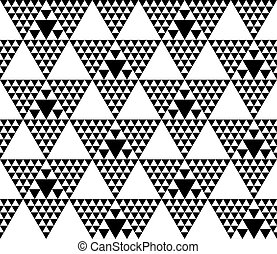 Black and white modern motif. Monochrome seamless pattern vector illustration. Concept geometric tile background for surface print and web design, background, fabric.
