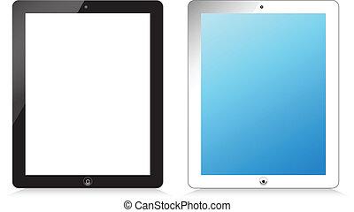 Black and white modern tablet