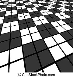 Black and white mosaic