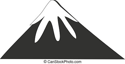 black and white mountain on a white background - Vector