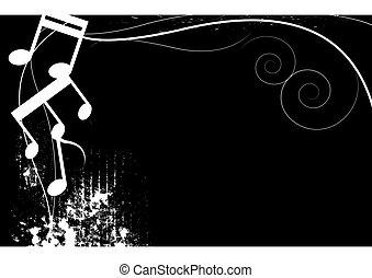 black and white music grunge background