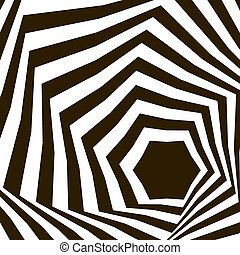 Black and white optical illusion