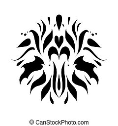 Black and white ornament on background vector