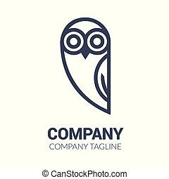 Black and white owl logo templates