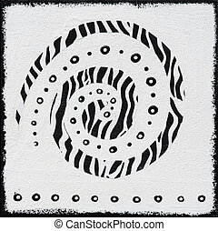 Black and white painting african style