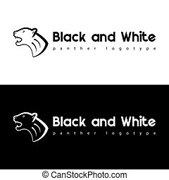 Black and white panther.
