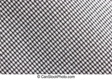Black and white pattern textile background.