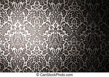 black and white pattern wallpaper. photography with a light...