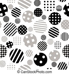 Black and white patterned circles seamless