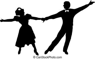contour of the dancing couples