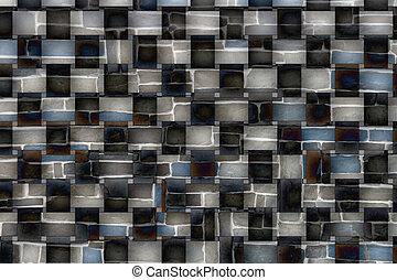 Black and white plaid patterns