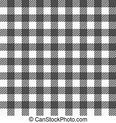 black and white plaid tablecloth