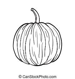 Black and White Pumpkin vector