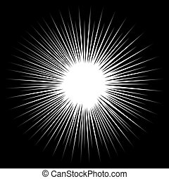 Black and white rays vector illustration