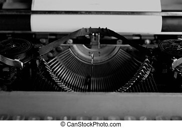 black and white retro typewriter letter - black and white ...