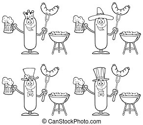 Black And White Sausage Collection - Black And White Sausage...