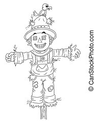 Scarecrow Vector Clip Art EPS Images. 1,968 Scarecrow ...