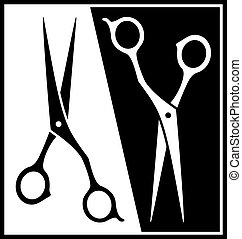 black and white scissors silhouette