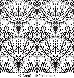 Black and white seamless geometric pattern