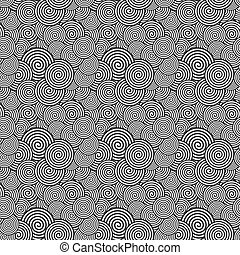 Seamless Pattern. Abstract spiral Psychedelic Art Background. Ve
