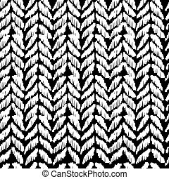 Black and white seamless pattern hand drawn design