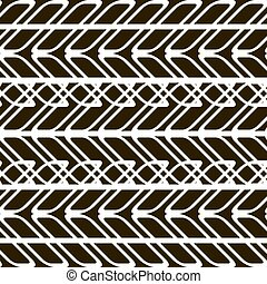 Black and white seamless pattern of overlapping geometric...
