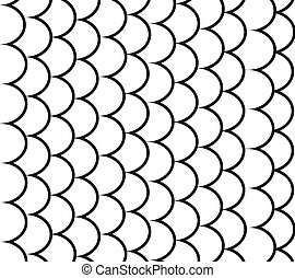 Black and White Seamless pattern of small colorful goldfish...