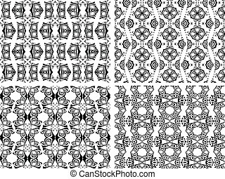 black and white seamless patterns 2