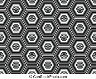 Black and white seamless vector image of geometric elements in dark colors