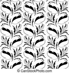 Black and white seamless wallpaper