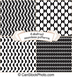 Black And White Set Of Patterns