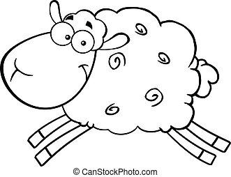 Black And White Sheep Jumping