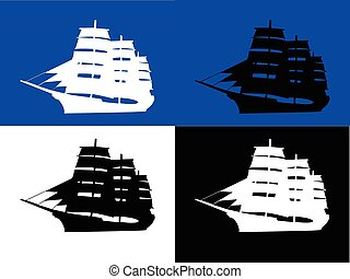 ships with background