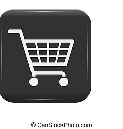 Black and white shopping basket sign