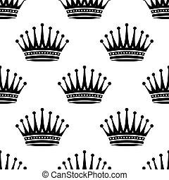 Royal crown seamless background pattern