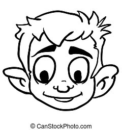 black and white smiling boy
