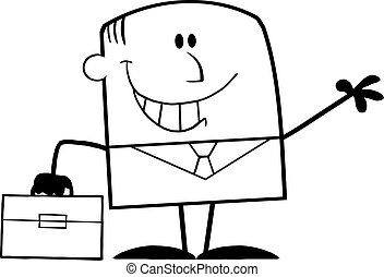 Black And White Smiling Businessman