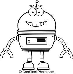 Black And White Smiling Robot
