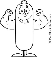 Black And White Smiling Sausage
