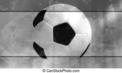 Black and White Soccer Backdrop - Black and White Soccer...